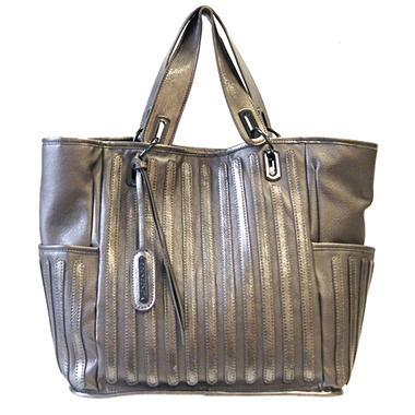 Fog by London Fog Margot Tote - Pewter Pebble with Patent