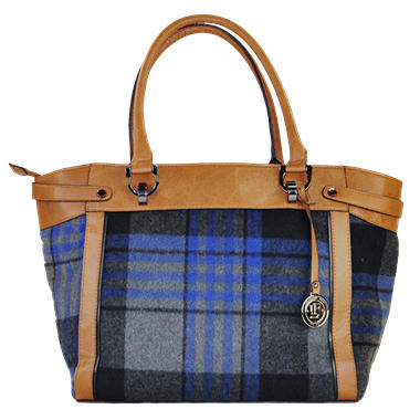 London Fog Ashford Tote Bag - Plaid