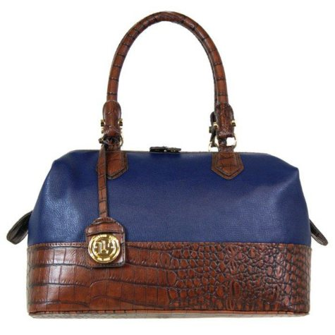 Fog by London Fog Norton Frame Satchel - Navy
