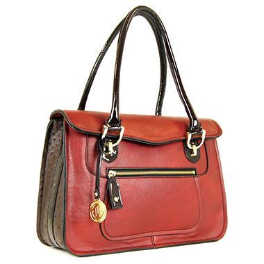London Fog Westway Flap Handbag Red