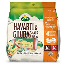 Arla Havarti and Gouda Cheese Snack (24 ct.)