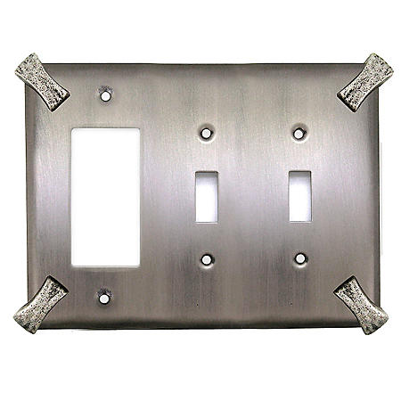 Martillo Combo Decora GFI/Double Switch-Pewter