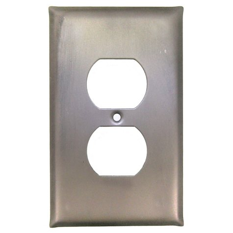 Outlet Cover in Matte Pewter