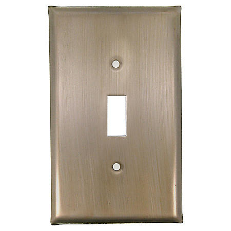 Single Toggle Switch in Champagne Pewter