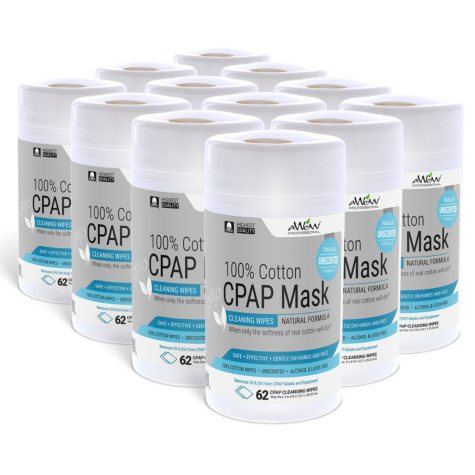 CPAP Mask Cleaning Wipes - Unscented - 12 pack