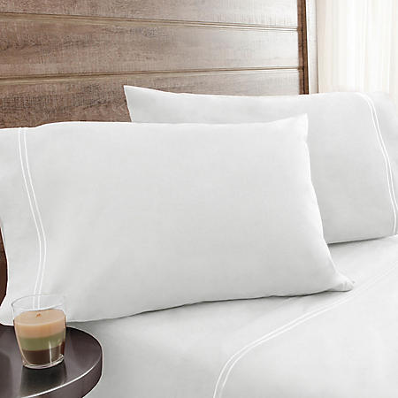 Elite Home Products 200-Thread-Count Soft-Wash Percale Sheet Sets (Various Sizes and Colors)