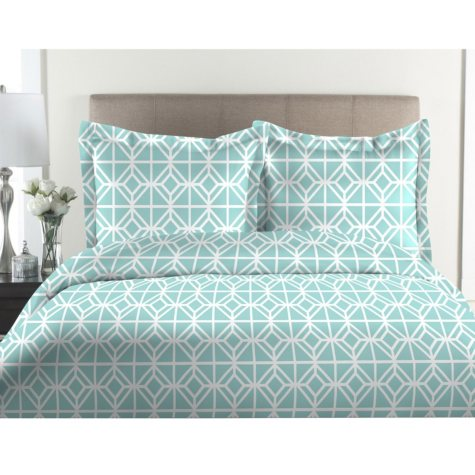 100% Cotton 300-Thread-Count St. Charles Print Duvet Set (Assorted Sizes and Colors)