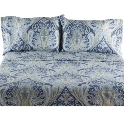 Crystal Palace Paisley 300 Thread Count Cotton Sateen Sheet Set (Assorted  Colors)