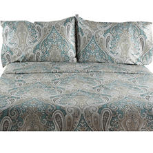 Crystal Palace Paisley 300-Thread-Count Cotton Sateen Sheet Set (Assorted Colors)