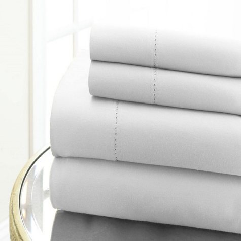 Regency 600-Thread-Count Hemstitch 4-Piece Sheet Set (Assorted Colors)
