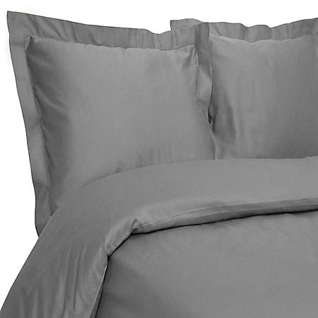 100% Cotton 400-Thread-Count Hemstitch Solid Duvet Set (Assorted Sizes and Colors)