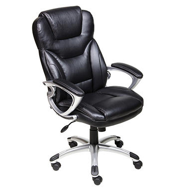 Beautiful Black Bonded Leather Executive Chair