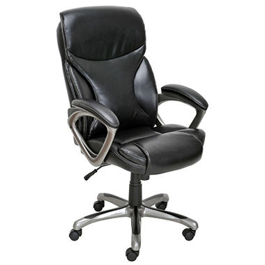 true innovations bonded leather manager chair black sam s club