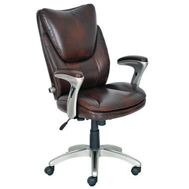 Serta   Bonded Leather Executive Chair   Augusta Brown