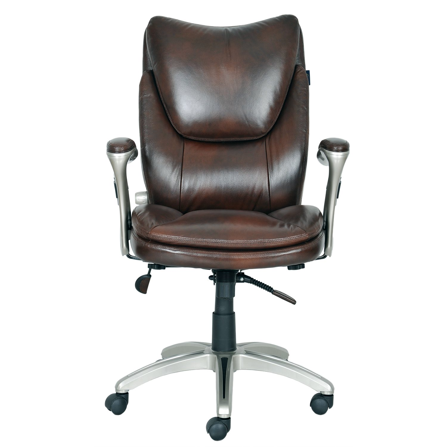 Serta Bonded Leather Executive Chair Augusta Brown Sam s Club