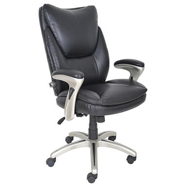 Serta Bonded Leather Executive Chair   Black   Sam's Club