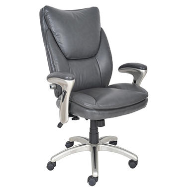 Serta Bonded Leather Executive Chair - Gray