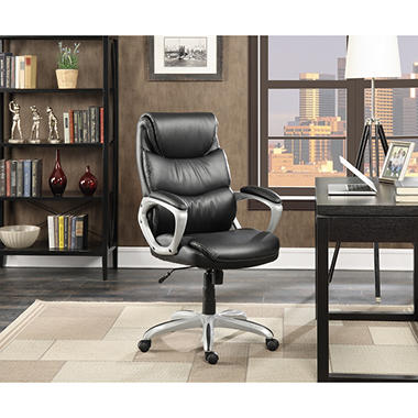 Captivating Serta Leather Manageru0027s Office Chair, Black