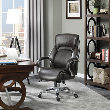 serta big & tall executive office chair, brown (supports up to 500