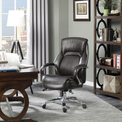 Serta Big Tall Executive Office Chair Brown Supports up to 500