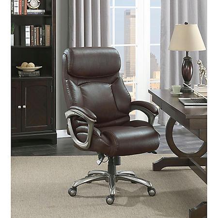 La-Z-Boy Martin Big & Tall Executive Office Chair, Brown ...