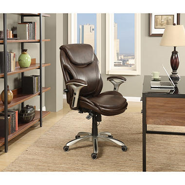 Wellness By Design Bonded Leather Air Executive Office