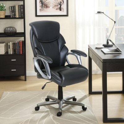 Serta Managers Office Chair Black Supports up to 250 lbs