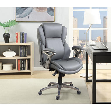 Wellness By Design Infinite Support Manager Chair Gray Supports Up