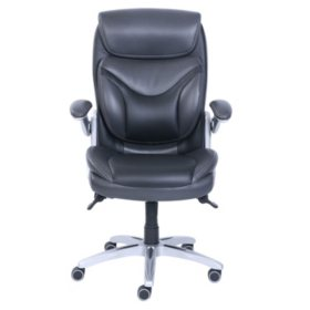 Wellness by Design Bonded Leather 3D Chair, Black