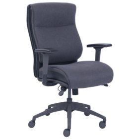 Serta Big & Tall Fabric Chair, Gray