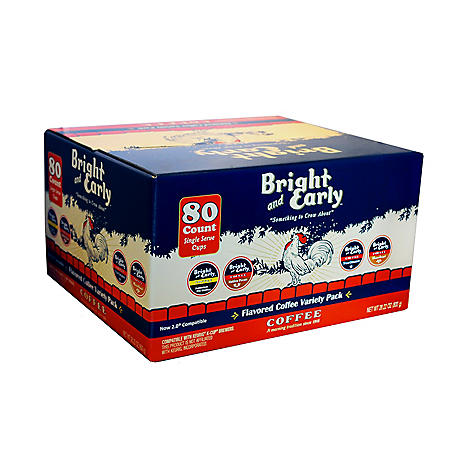 Bright and Early Flavored Coffee Variety, Single Serve (80 ct.)