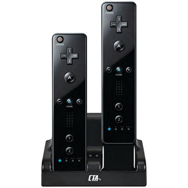 CTA Dual Charge Station for the Nintendo Wii - Various Colors