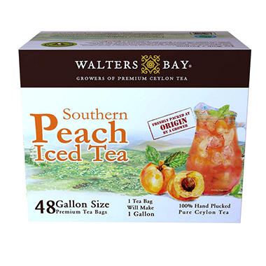 Walters Bay Gallon Sized Peach Iced Tea Bags (48 ct.)