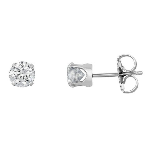 1.00 CT. T.W. Diamond Stud Earrings in 14K White Gold