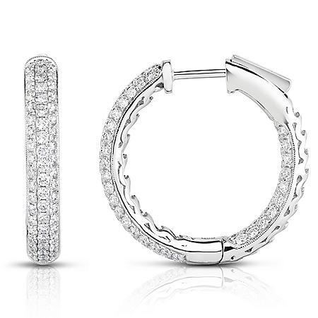 2 CT. T.W. Diamond Earrings in 18K White Gold