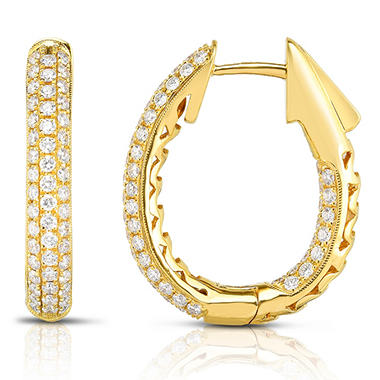 1.49 CT. T.W. Diamond Earring in 18K Yellow Gold