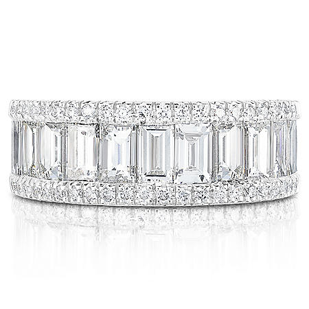 3 CT. T.W. Diamond Ring in 18K White Gold