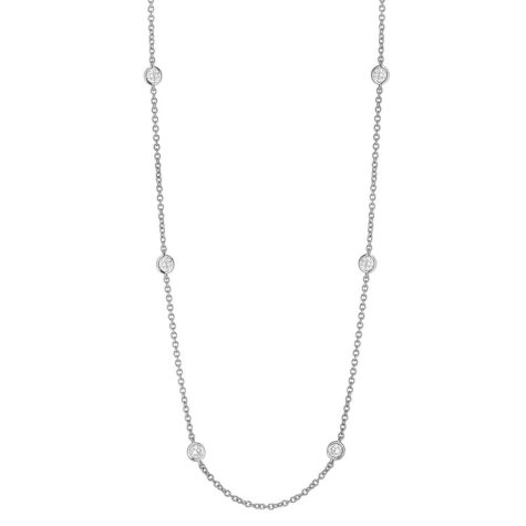 1 CT. T.W. Diamond Necklace in 18K White Gold
