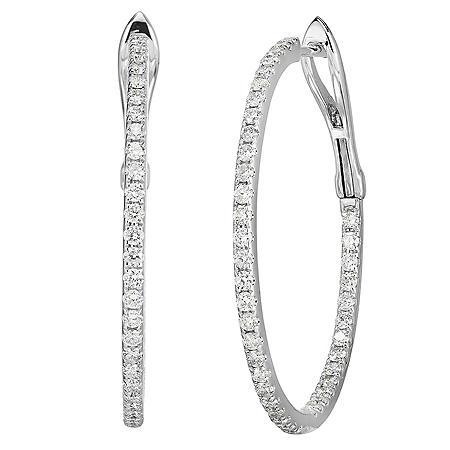 1 CT. T.W. Diamond Earrings in 14K Gold