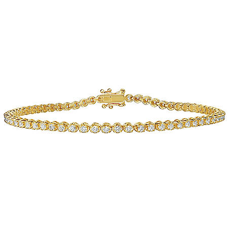 1.25 CT. T.W. Diamond Tennis Bracelet in 14 Karat Gold