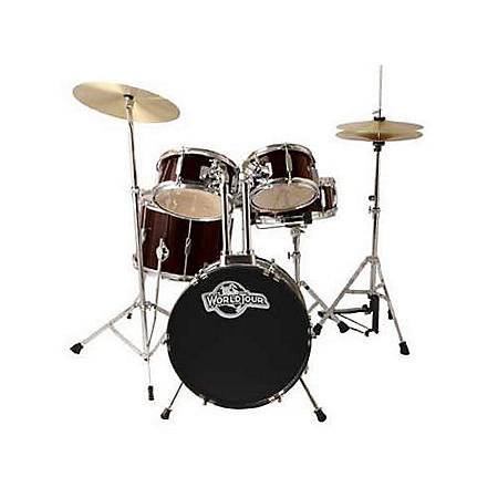 world tour junior complete 5 piece drum set red sam 39 s club. Black Bedroom Furniture Sets. Home Design Ideas