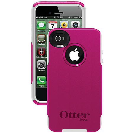 best service 8eb31 ed9e8 Otterbox Commuter Series Case for iPhone 4/4S - Hot Pink/White ...