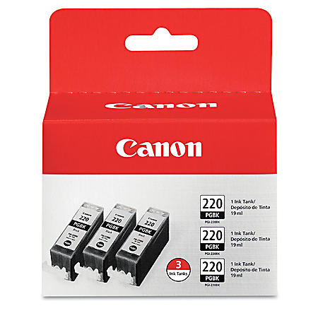 Canon PGI-220BK Ink Tank Cartridge, Black (3 pk.)