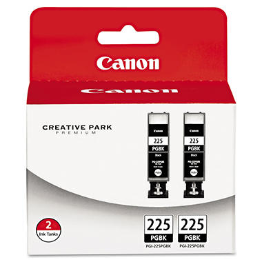 Canon PGI-225PGBK Ink Tank Cartridge, Black (2 pk.)
