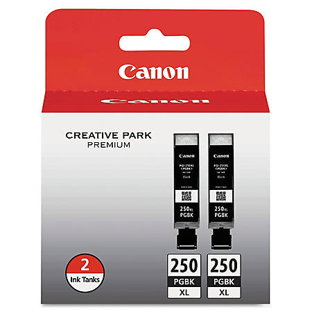 Canon PGI-250XL High Yield Ink Tank Cartridge, Black (2 pk., 500 Page Yield)