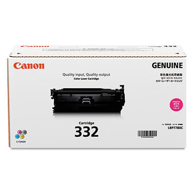 Canon 332 Toner Cartridge, Magenta (6,400 Page-Yield)