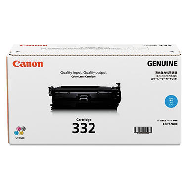 Canon 332 Toner Cartridge, Cyan (6,400 Page-Yield)