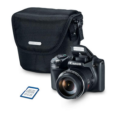 Canon PowerShot SX510 HS Bundle with 12.1 MP, 30x Optical Zoom, Camera Case, and 8GB SD card