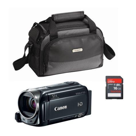 Canon Vixia HF R50 Camcorder Bundle with 16GB SD Card and Camera Case