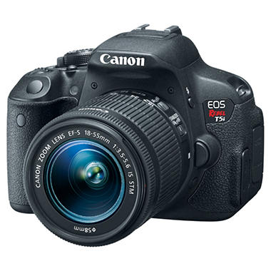 Canon T5i 18MP Digital SLR Bundle with 18-55mm IS Lens, 55-250mm IS Lens, 300DG Gadget Bag, and 16 GB SD Card